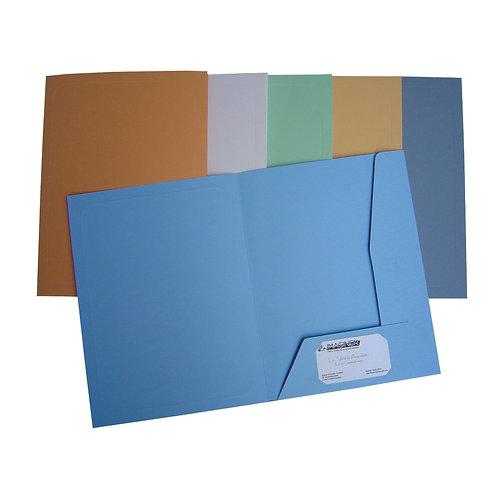 Carpeta tipo PRESENTACION 2 solapas A4 cartulina 330 gr