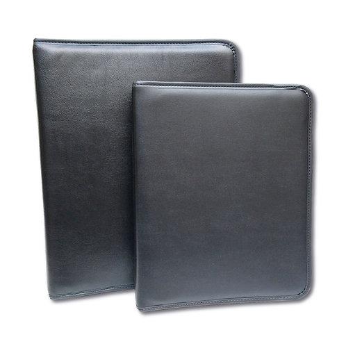 Carpeta negra simil cuero Línea CLASICA
