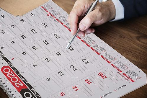 Planner mensual con percha