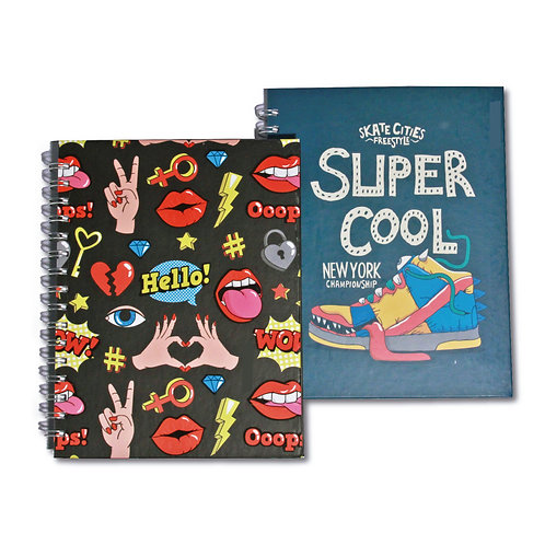 Cuaderno 1/2 oficio Linea POP ART