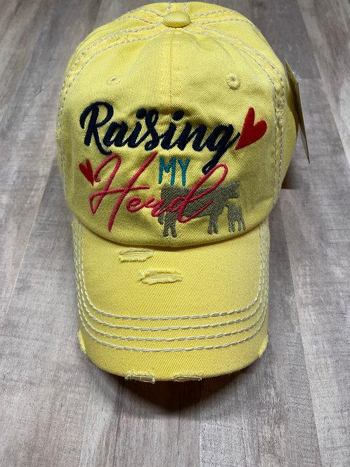 Yellow Raising My Herd Hat