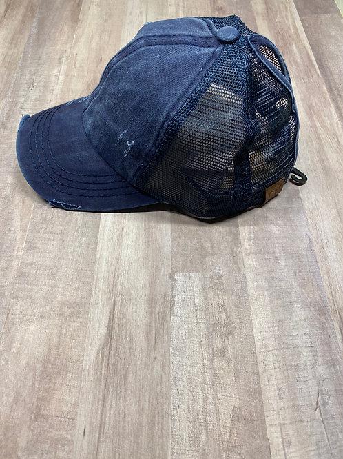 C.C. Keyhole Navy Hat