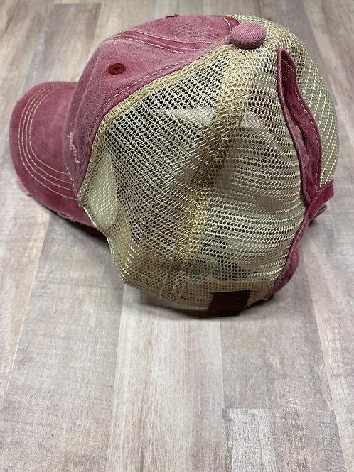 C.C. Keyhole Burgundy Hat