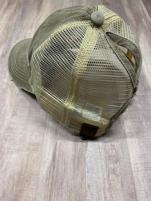 C.C. Keyhole Olive Hat