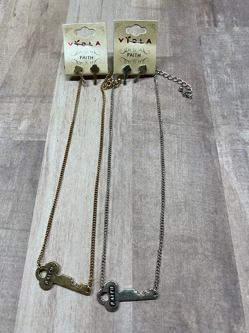 Faith Earring and Necklace Set