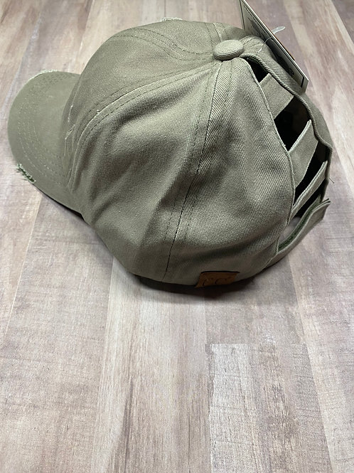 C.C. Ladder Back Olive Hat