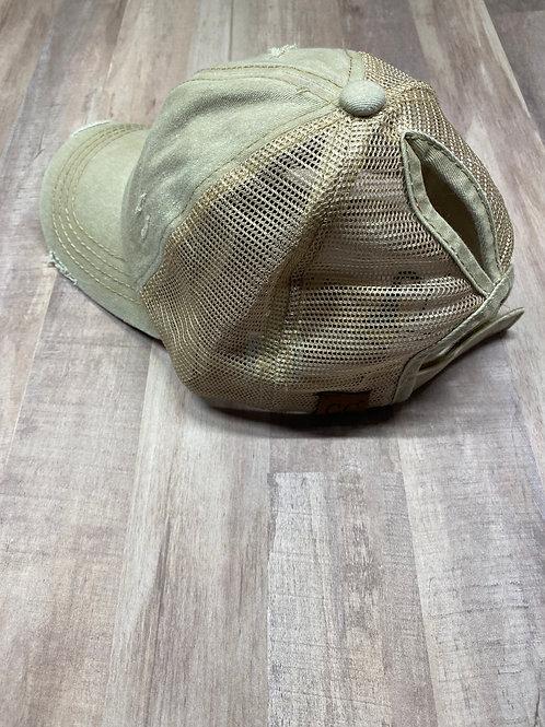 C.C. Keyhole Beige Hat