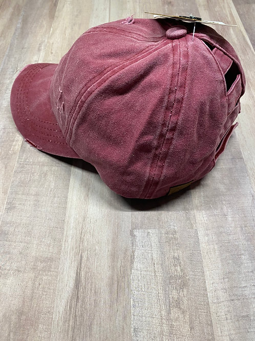 C.C. Ladder Back Berry Hat