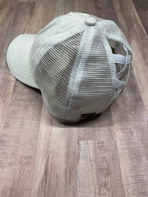 C.C. Criss Cross White Hat
