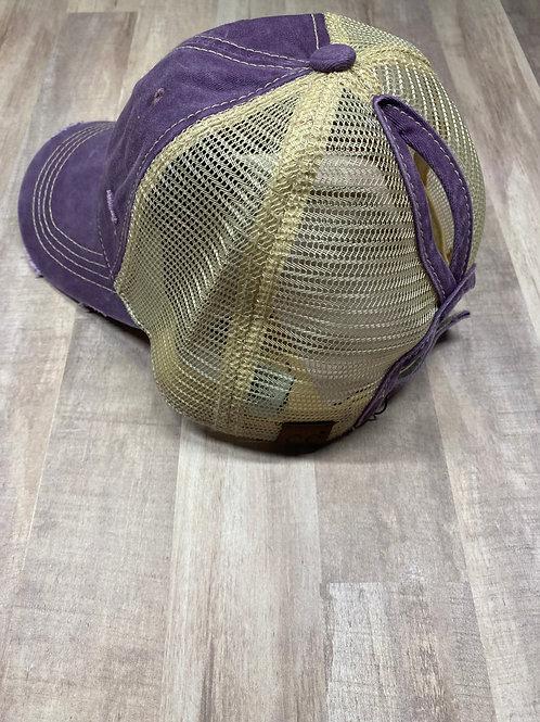 C.C. Keyhole Violet Hat