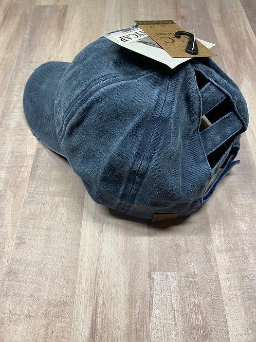 C.C. Ladder Back Navy Hat