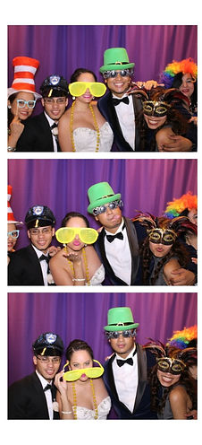 Photo Booth Strip Purple Background