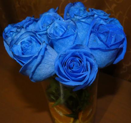 Bouquet rosas y naranja
