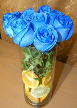 Bouquet rosas y fruta