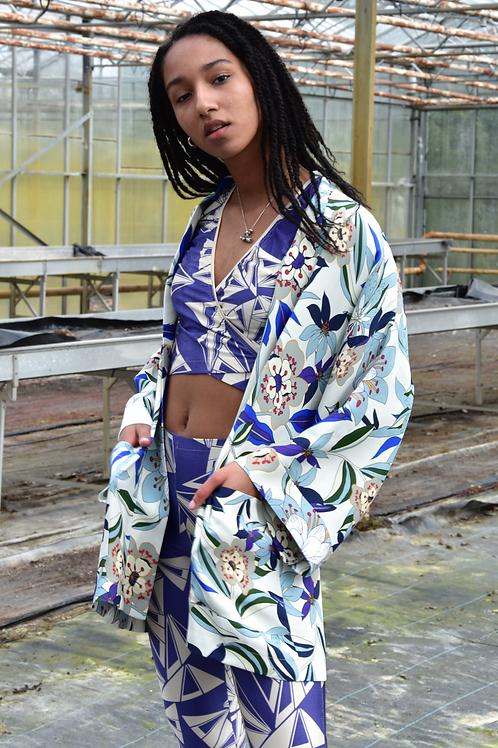Kimono van katoenen crèpe