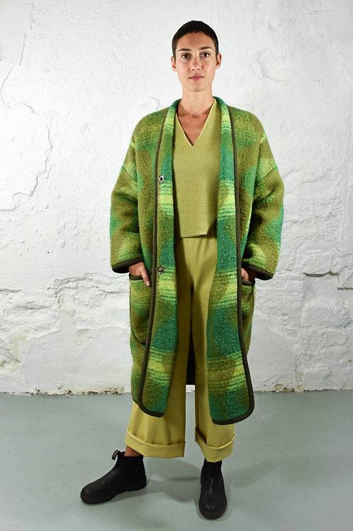 Groene Dekenjas met patroon