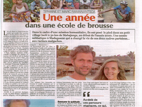 Article de L'Express Madagascar - 23 avril 2021