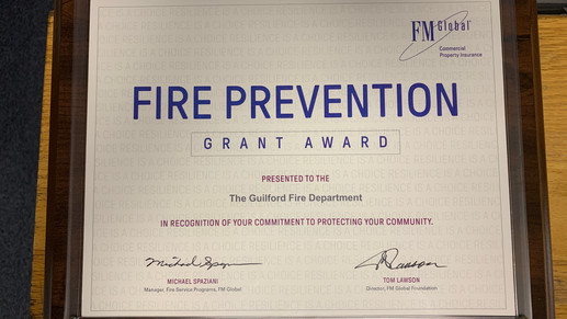 Guilford Fire Department Awarded Grant