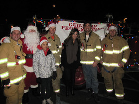 Guilford Firefighters Are Back Helping Santa Deliver Gifts Again