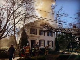 Crews Battle Stubborn Fire On Whitfield Street