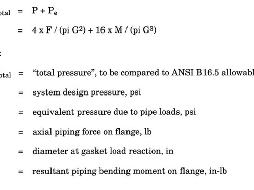 3.6.5.1 Flange Equivalent Pressure Calculation