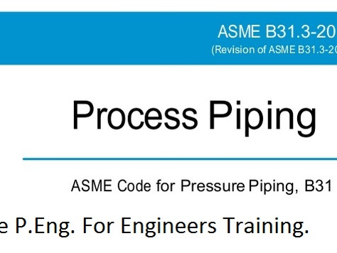 ASME B31.3 Training Calgary