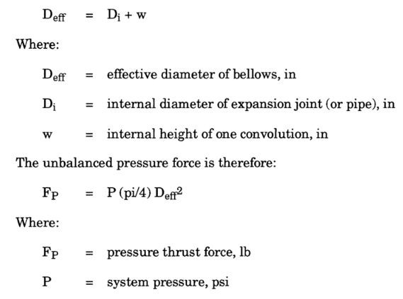 pressure thrust force is calculated by meena rezkallah, p.eng., the best pipe stress engineer & professional engineer in calgary alberta canada. meenarezkallah.com littlepeng.com piping engineering services