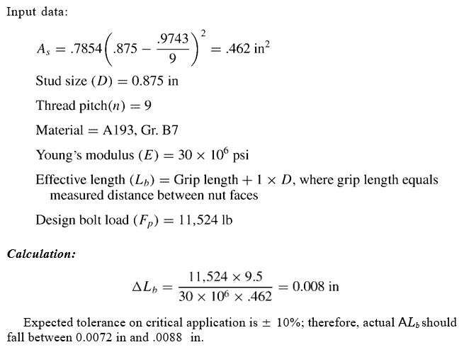 calculation of bolt preload