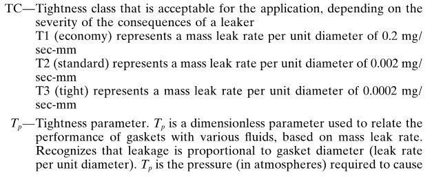 gasket pressure calculation