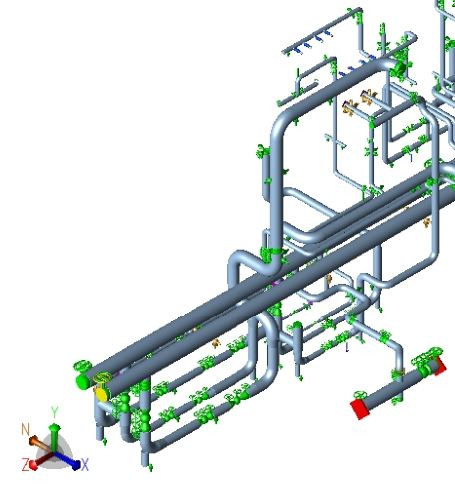 Skid design and CAESAR II Pipe Stress analysis by meena rezkallah, p.eng., the best piping stress engineer & professional engineer in calgary alberta canada. pipe stress analysis services. meena development ltd. Engineering Company