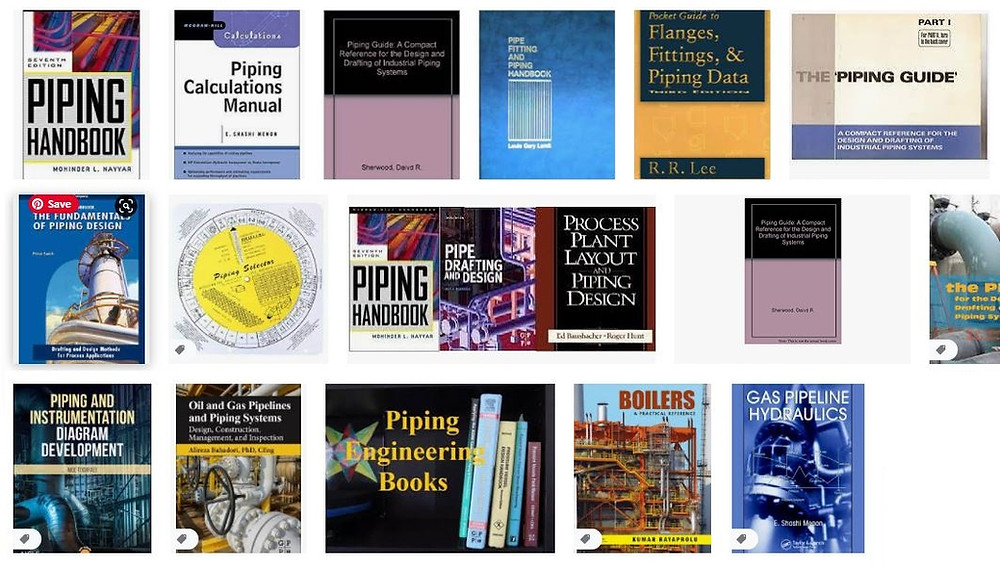 Piping Reference Books for Good Piping Stress Engineers. Our piping Experts in Little P.Eng. for Engineering Services across Canada and USA, recommend some of the books useful to beginners in Piping Industry and used for provided our clients with the best piping Design Services and Pipe Stress Analysis Services, are listed below. Most of them are available online. We use some of them in our company locations in in Calgary, Alberta; Vancouver, BC; Toronto, Ontario; Buena Park, California.  PIPE STRESS ENGINEERING by Peng: One of the best book on piping stress engineering. It has a major role in building a career in piping stress analysis for beginners. Simple languages are used to explain ideas nicely and is an effective book for every piping engineer.   DESIGN OF PIPING SYSTEMS by M W Kellogg Company: Second best book on Piping stress analysis. Even though the language is difficult and contents are not interesting but still this book shares a great place for describing the topics effectively and was the best book earlier before the Peng book.  INTRODUCTION TO PIPE STRESS ANALYSIS by Sam Kannapan: One of the best books on Piping stress analysis and easy to understand. The contents are simply explained and one of the most recommended book for beginners.   COADE STRESS ANALYSIS SEMINAR NOTES: Must have a tutorial guide for every piping stress engineer using CAESAR II. Explains in details all the basics of Caesar II application.  PIPING HANDBOOK by M. L. Nayyar: One good book for both stress and layout engineers with the huge important databases on piping engineering. Refer this book for any data you require during your day to day piping works.  PIPE DRAFTING AND DESIGN by Rhea and Parisher: The best book for a beginner. Covers the basics in simple language. Very easy to understand.  PROCESS PLANT LAYOUT AND PIPING DESIGN by Hunt and Bausbacher: The best book for a piping layout engineer. Covers the basics of the piping layout. Most of the preliminary layout ideas conne