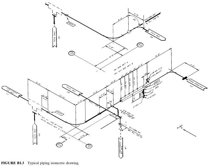 typical piping isometric drawing