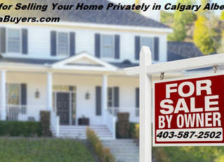 Steps for Selling Your Home Privately in Calgary Alberta