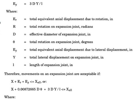 3.3.2 Evaluation of Expansion Joint Allowable Movements