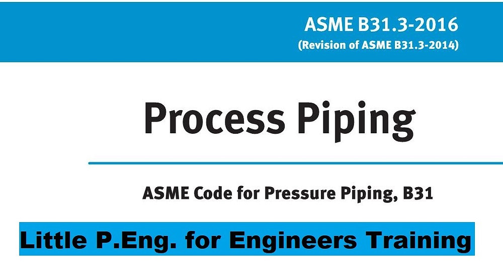 ASME B31.3 Design of Straight Pipe Under External Pressure