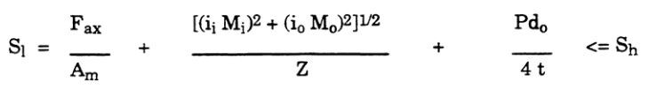 piping sustained stress equation as per asme b31.3 for process piping ( Chemical Plant and Petroleum Refinery Piping)