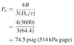 External pressure design factor A versus factor B equation