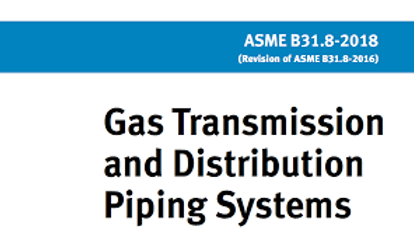 ASME B31.8 power piping training course.