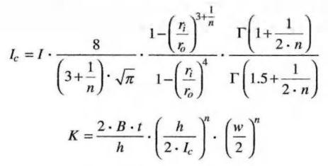 Norton creep equation-Ic and K