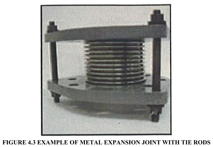 FIGURE 4.3 EXAMPLE OF METAL EXPANSION JOINT WITH TIE RODS
