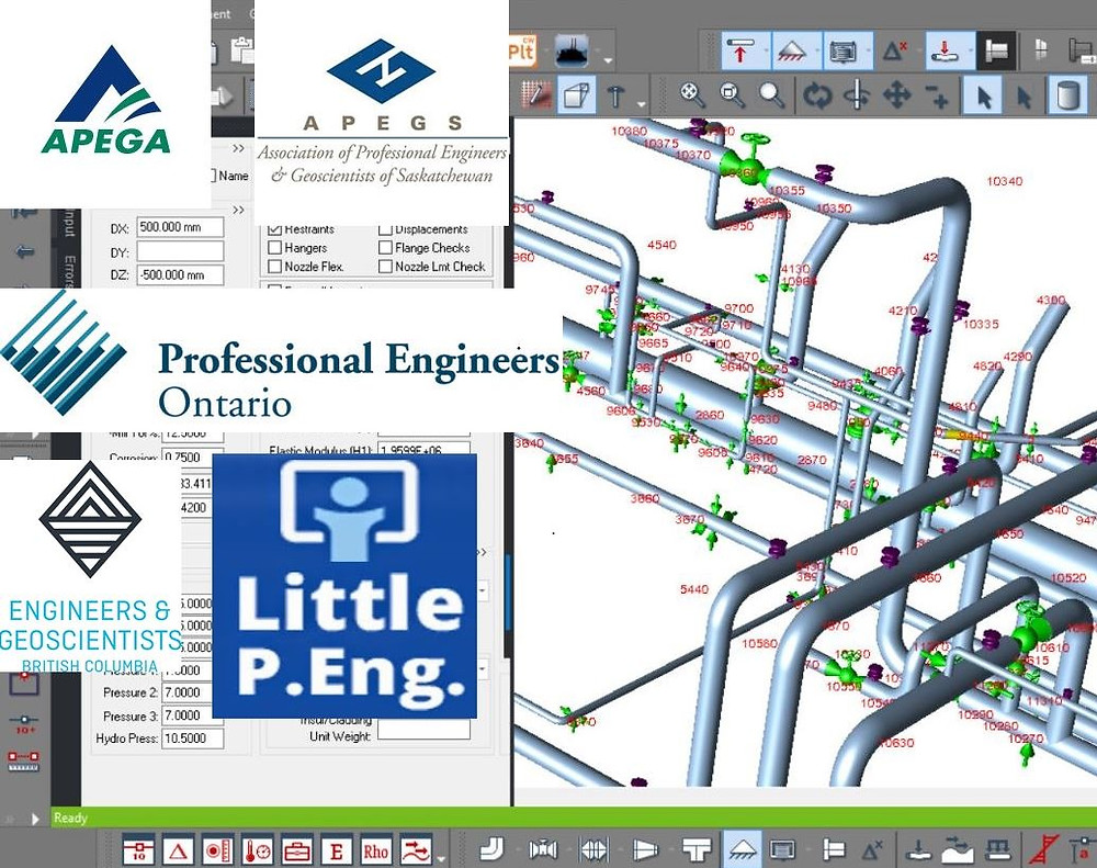 Canada Piping Stress Engineer Services. by meena rezkallah, p.eng. for piping stress analysis and piping design engineering services across calgary alberta canada
