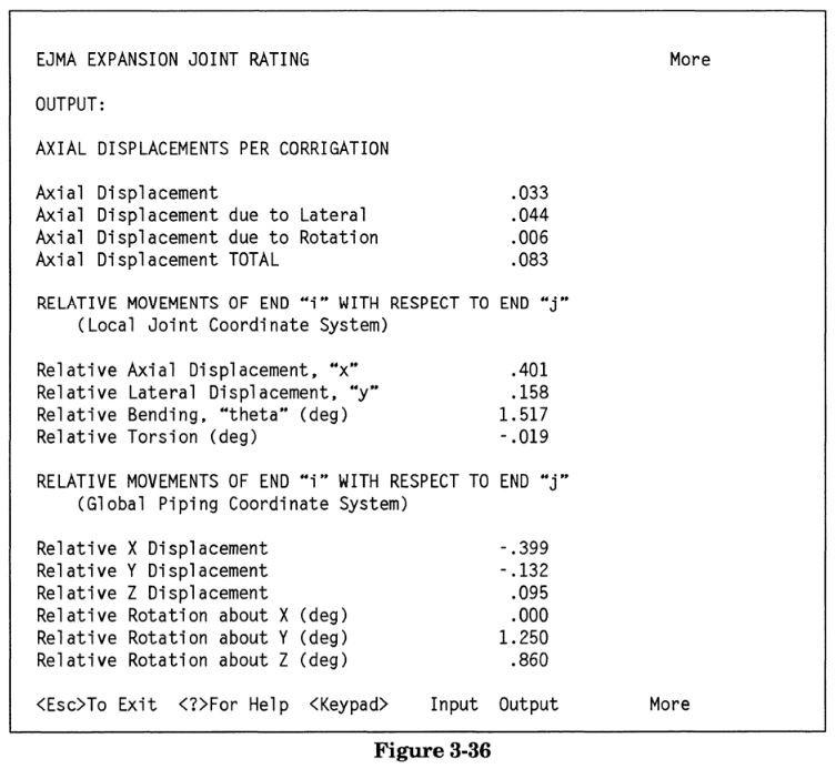 Relative displacements in caesar ii software output. by meena rezkallah, p.eng., the best pipe stress engineer & professional engineer in calgary alberta canada. meenarezkallah.com littlepeng.com asme