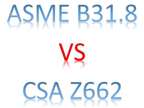 ASME B31.8 VS CSA Z662