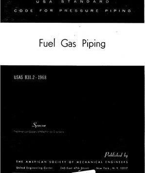 USAS B31.2 (Fuel Gas Piping)