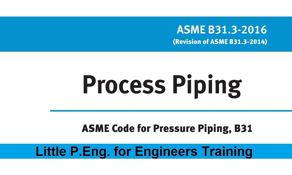 ASME B31.3 Sample Wall Thickness Calculations