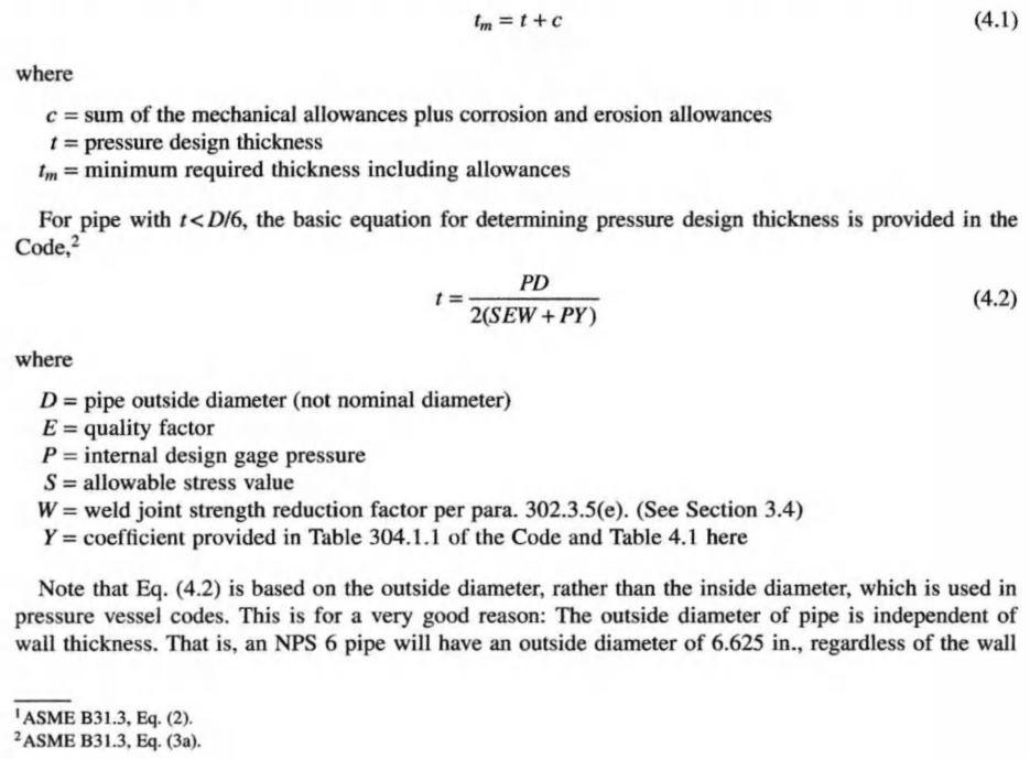 ASME B31.3 Pressure Design