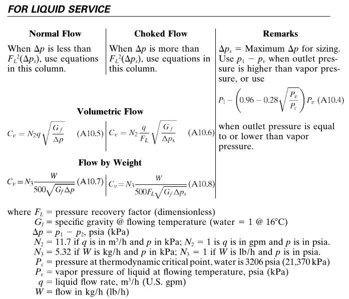 liquid service classification
