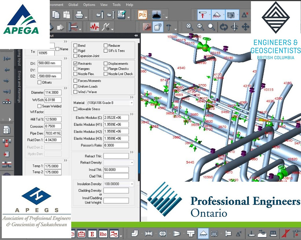 CAESAR II Pipe Stress Analysis Services by Meena Rezkallah, P.Eng. Piping stress engineer for piping stress analysis services across calgary alberta canada. I provide professional engineer services across canada