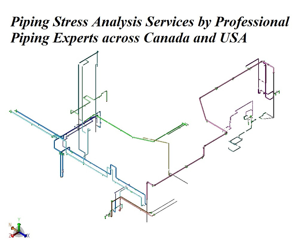 Piping Stress Analysis Services by Professional Piping Experts across Canada and USA. Our professional piping stress engineers have a bachelor's and Masters degree in mechanical / structural engineering and province license (P.Eng.) in Alberta, Saskatchewan, British Columbia and Ontario. We review, validate, certify and stamp piping and structural packages. Also check Industries We Serve.  We provide premium piping engineering & full-service pipe design and pipeline / pipe stress analysis services, from initial concept through final construction. We serve all types of industries across Canada & globally. Using CAESAR II and pipe stress calculations as per API, ASME B31.3, B31.1, B31.8, B31.4, CSA Z662.