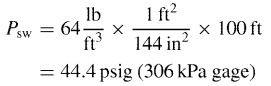 External pressure design calculations